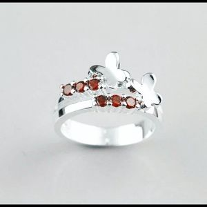 BRAND NEW RUBY SOLID STERLING SILVER BUTTERFLY